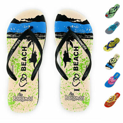 Bahamas Womens Flip Flops Premium Comfort Thong Sandals Slippers Beach Pool  Flip Flops New Thong Sandals