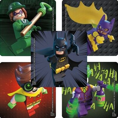 Lego Batman Birthday Party Supplies (20 Lego Batman STICKERS Party Favors Supplies Birthday Treat Loot)