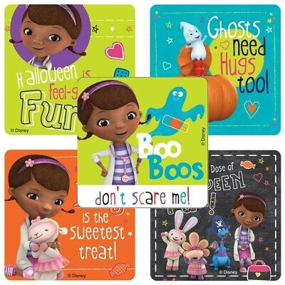 Doc McStuffins Stickers x 5 - Doc Halloween Stickers Birthday Party Favour
