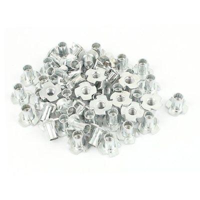 50pcs 4 Pronged Zinc Plated T-nut Tee Nut Fixing 14-20 X 916