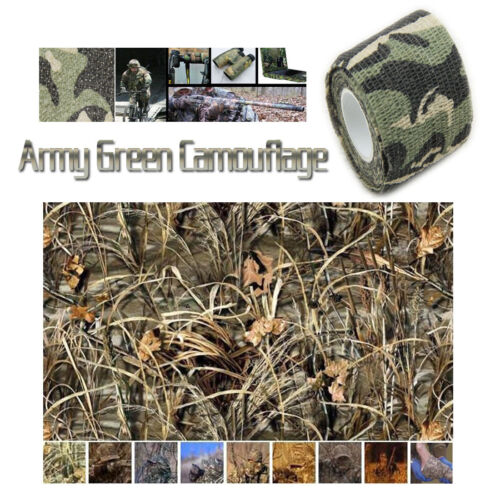 5CMx4.5M Camo Waterproof Wrap Gun Camping camera Camouflage Stealth Tape Grass