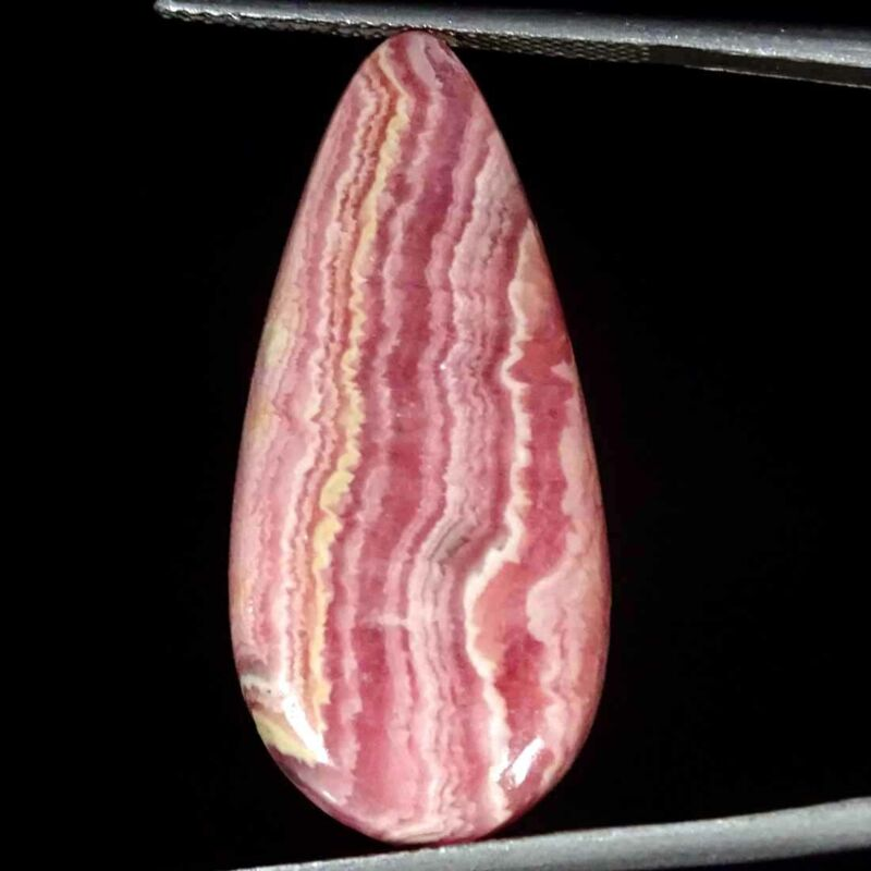 21.80Cts Natural Rhodochrosite Pear Cabochon Loose Gemstone