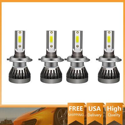 4X H7 LED Headlight Coversion Kit Bulb High Beam 650W White 6000K 97500LM