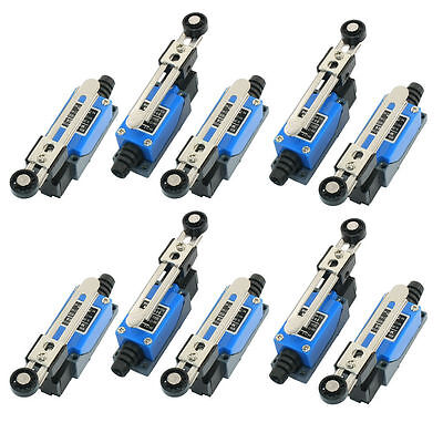 10 Pcs Roller Arm Type Ac Limit Switch For Cnc Mill Laser Plasma Me-8108 Usa