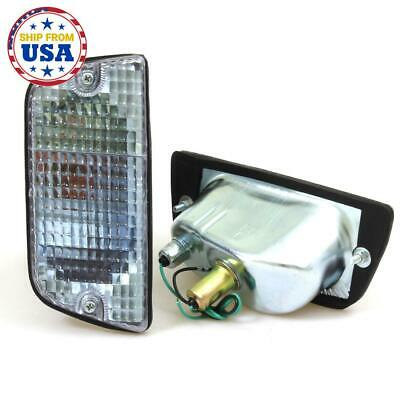 FIT DATSUN 620 UTE TRUCK NEW PAIR LH RH FRONT TURN SIGNAL LIGHTS CLEAR 1972-1979