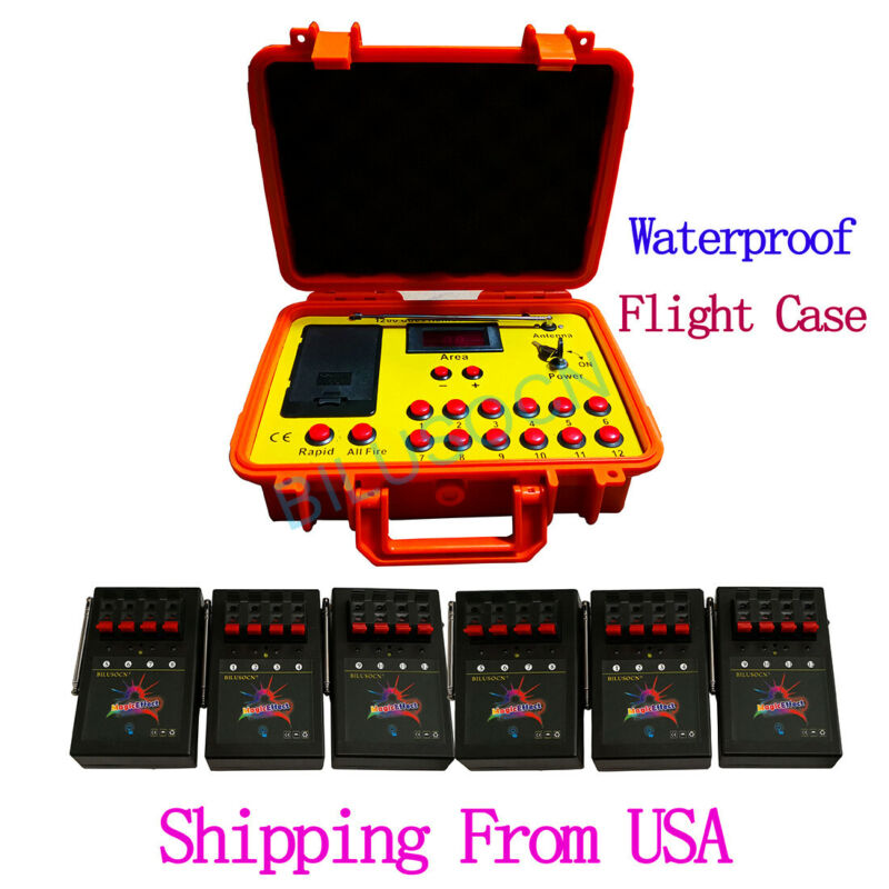 NEW 500M 24 cues fireworks firing system 1200cues wireless control Ship From USA