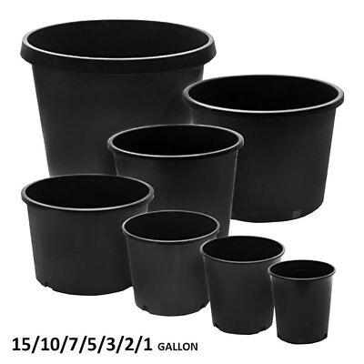 Calipots 5 Pack   Premium Black Nursery Pots   Plastic Plant Pot