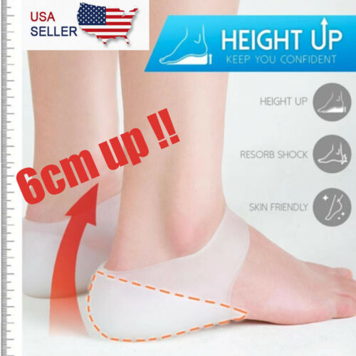 Concealed Silicone Footbed Enhancers Invisible Height Increase Insoles Pads USA Clothing & Shoe Care