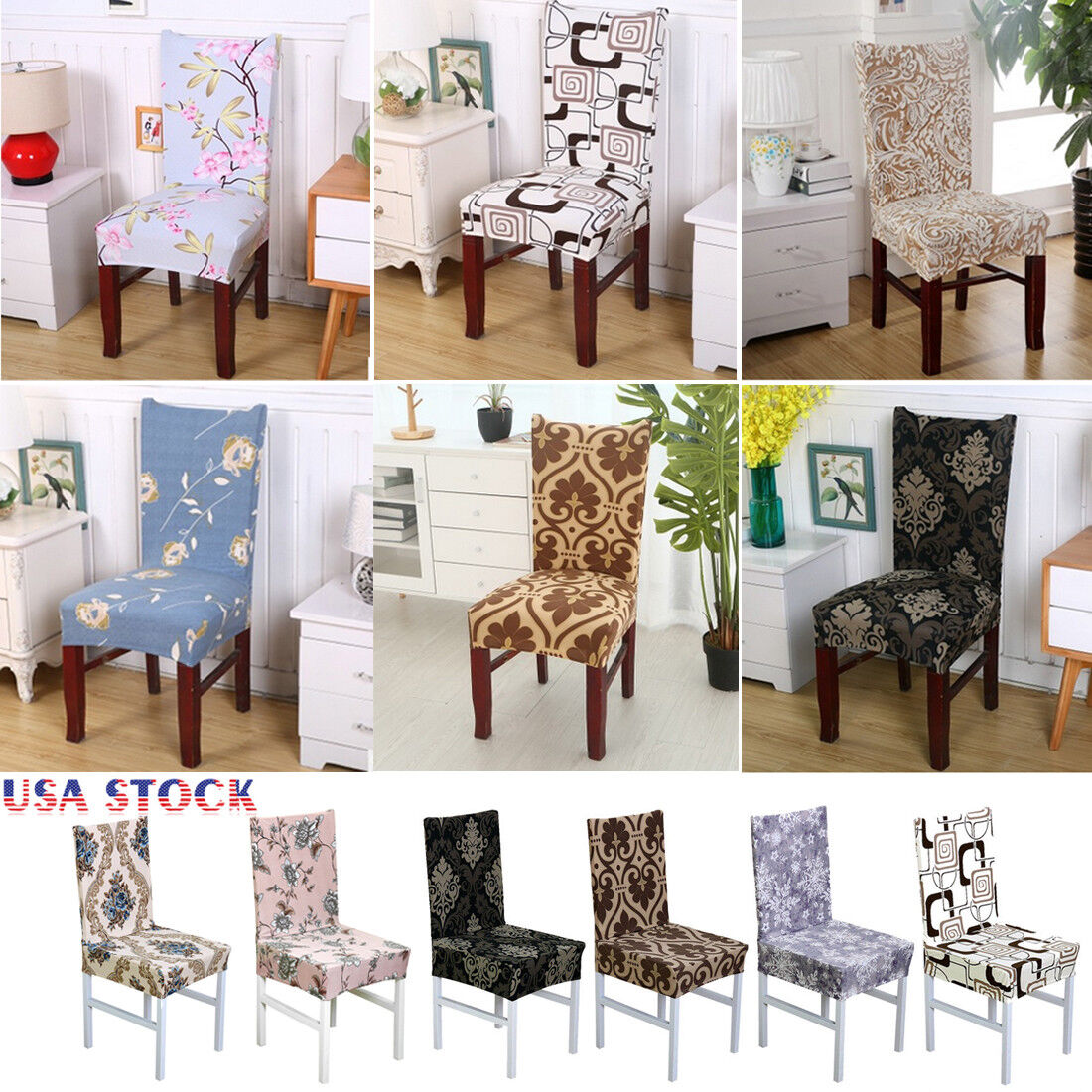 Spandex Stretch Wedding Banquet Chair Cover Party Decor Dini
