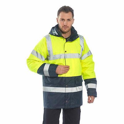 Portwest Us466 Hi-vis Contrast Reflective Traffic Waterproof Safety Jacket Ansi