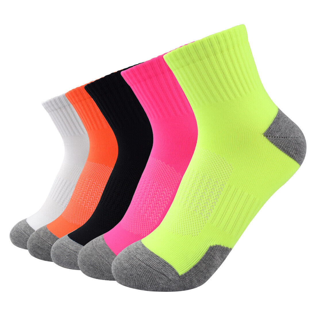 Unisex High Ankle Cushion Crew Socks Bright Picture Casual Sport Socks