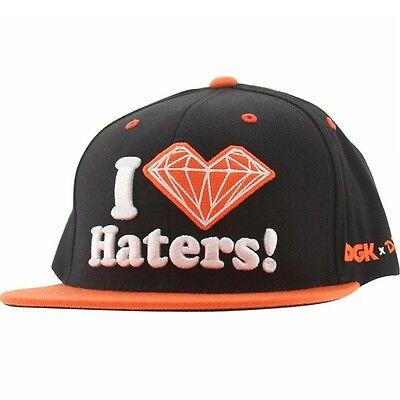 DGK x Diamond Supply Co Haters Snapback Cap (black / orange)