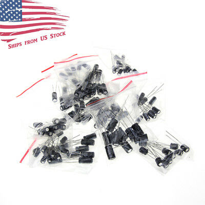 1uf To 470uf 12 Values X 10 Each Electrolytic Capacitor 120pc Assortment Kit