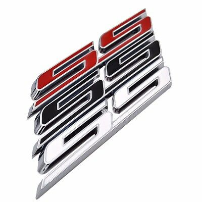 "Latest 5"" SS Letter Grille Fender Trunk Emblem Badge for Chevy Camaro 2016 2017"