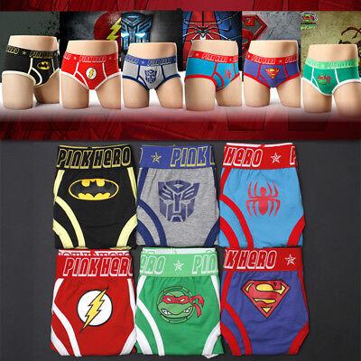 Pink Hero Men's Underwear Super Hero Underpants Boxer Cotton Boy Shorts Brief - Boy Super Hero