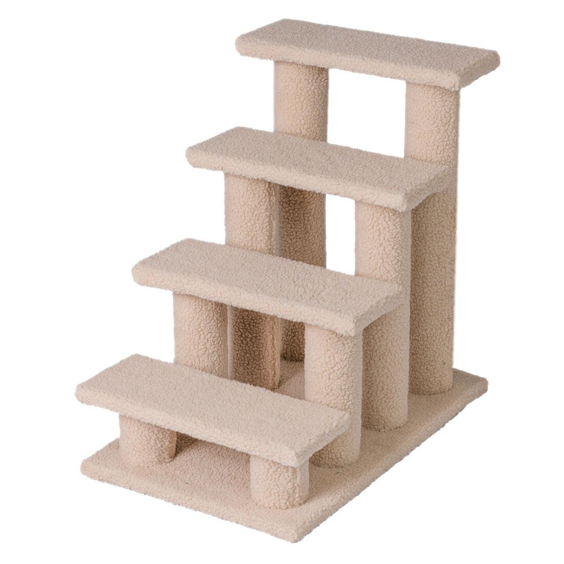 "Good Life 25"" 4 Steps Pet Stairs Ladder Ramp Scratching P..."