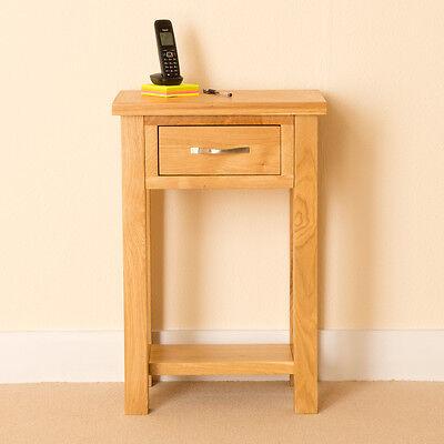 Newlyn   Oak Telephone Table / Light Oak Hall Table / Modern Oak Side Table