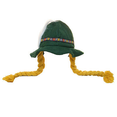 Oktoberfest Alpine Hat With Braids - Octoberfest Hat