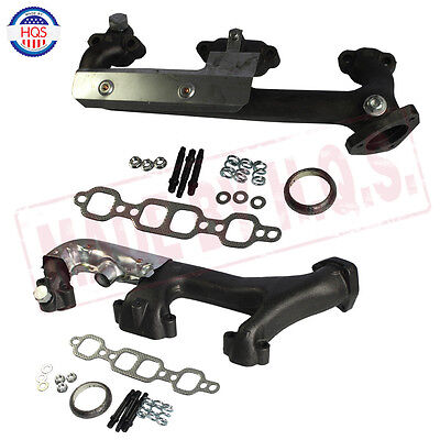 Chevy Truck Exhaust Manifold - Exhaust Manifold W/ Heat Shield Set For Chevrolet GMC Pickup Truck 5.7L