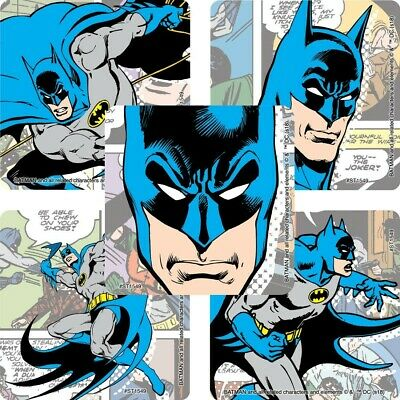 20 Batman Comic STICKERS Party Favors Supplies for Birthday Treat Loot Bags](Batman Party Bags)