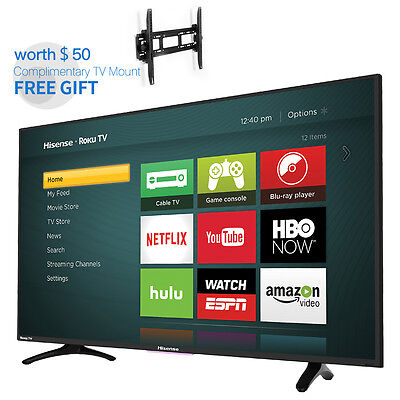 Hisense Tv 40  H4 Series Roku Smart Full Fhd Led Backlight Free Wall Mount Gift