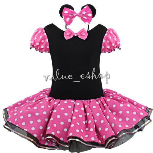 Toddler Girls Kids Princess Mouse Fancy Dress Costume Cosplay Tutu Skirt Outfit