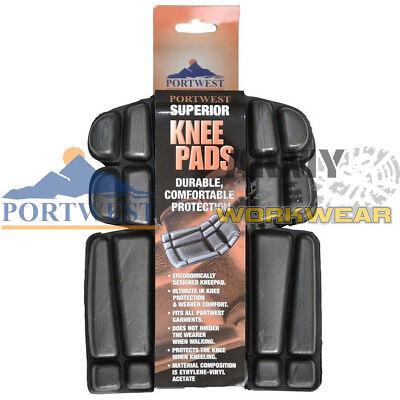 Portwest Knee Pads Black Foam Knee Protectors Inserts Trade Pro Worker Plus