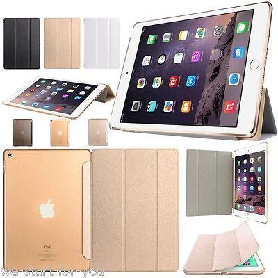 Slim Apple iPad Air 2 Schutz Hülle+Folie Tasche Smart Cover Case Etui CSW-3F
