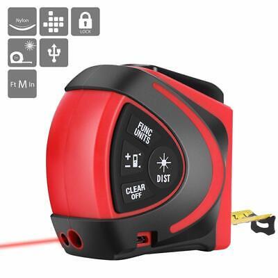 Vivohome 2in1 Lcd Digital Measure Tape Laser Distance Meter Range Measuring Roll
