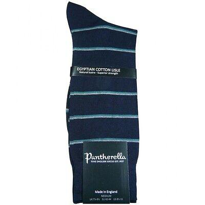 Sea Green-stripe (NWT Pantherella Conway Navy with Sea Green Stripe Cotton Socks Medium/US 8.5 -11)