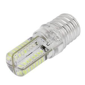 E17 Socket 5W 64 LED Lamp Bulb 3014 SMD Light Pure White AC 110V-220V DT