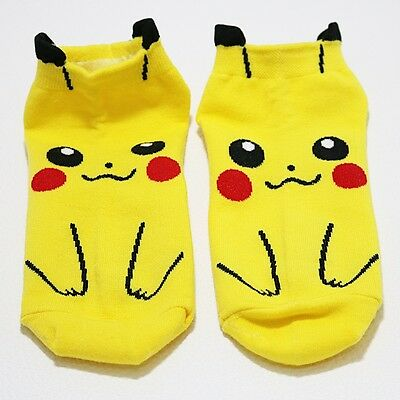 1 Pair Pikachu Character Socks Pocket Monster Unisex Kid Casual Birthday Gift