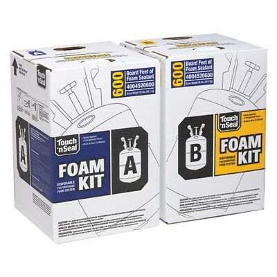 Touch N Seal 11 Kits Of 1.75 Pcf Spray Foam Insulation 6600 Sqft Fire Rated
