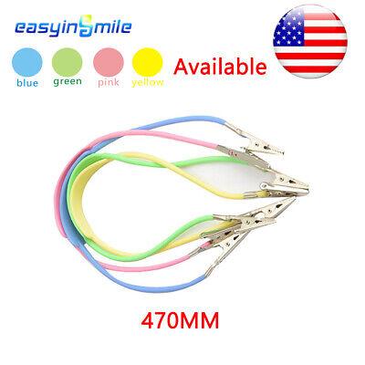 470mm Dental Bib Holder Metal Clip Plastic Tube Disposable Elasticity 4color 1pc