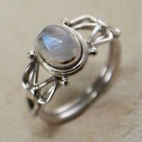 Mondstein-ring, Plata Genuina -925 , Selección De Tamaño 52-63 India -  - ebay.es