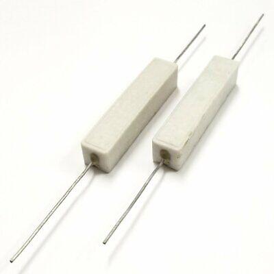 Lot Of 2 600 Ohm 10 Watt Wirewound Ceramic Power Resistors 10w