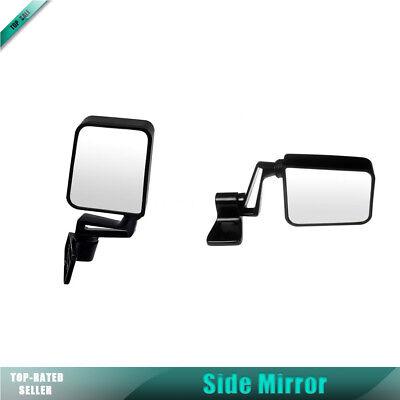 Dorman Pair Manual Fold Away Side Mirror For 87 88 JEEP WAGONEER 91-93 CHEROKEE 87 Jeep Cherokee Mirror