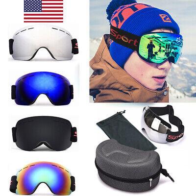 US Mens Women Ski Goggles Professional Snowboard Snowmobile Anti Fog (Snowboarding Sunglass)