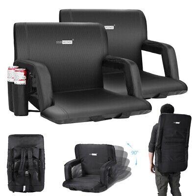 VIVOHOME Folding Stadium Seat Stool Floor Chair Sofa Camping Bleacher Recliner Folding Stadium Bleacher Seats
