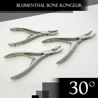 3 Pieces Of Blumenthal Bone Rongeur 30 Degree 4.5 Surgical Dental Instruments