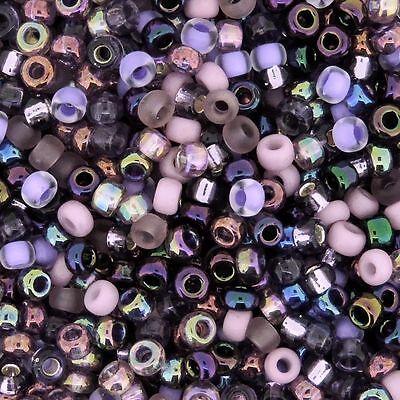 Miyuki Round Rocaille Seed Beads Size 11/0 Lilacs Mix 8.5G (11-MIX01)