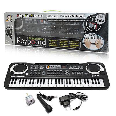 61 Keys Digital Music Electronic Keyboard Electric Piano Organ Instrument Talent