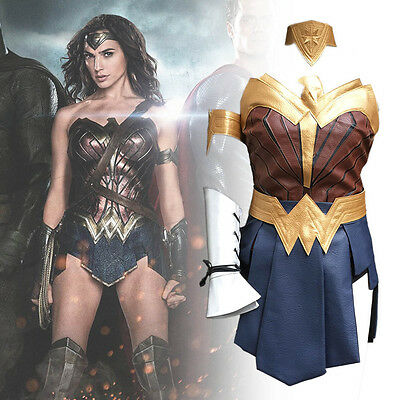 2017 New Wonder Woman Diana Princess Cosplay Costume Halloween Party Hot Suit - Superhero Halloween Costumes 2017