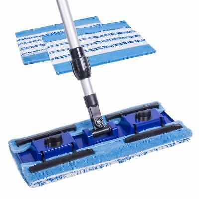 "Annaklin Microfiber Mop 14.5"" with 3 Reusable Microfiber Flat Mop Refills Pro..."