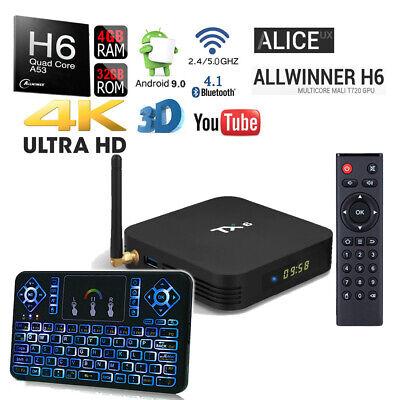 TX6 Quad Core H6 32GB Bluetooth 1080p 4K Dual WiFi 5G Google Play Android TV Box