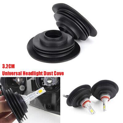 NEW 3.2cm Universal Headlight Dust Cover Cap For LED HID Xenon Halogen Bulb SET