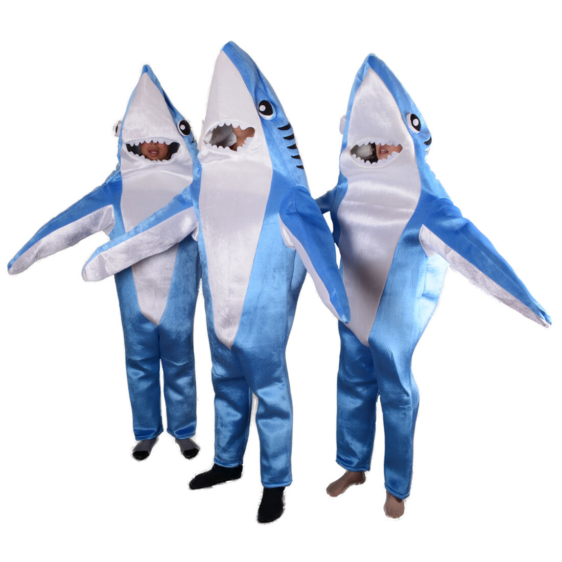 Adult Shark Halloween Costumes Mascot Animal Party Cosplay Outfit Blue Sponge
