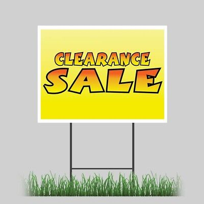18x24 Clearance Sale Inventory Closeout Store Yard Sign Outdoor Coroplast