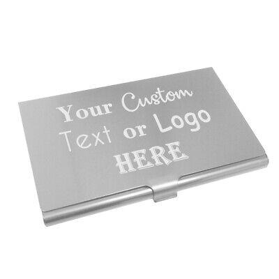 Custom Brush Silver Aluminum Business Card Holder Carrier Case For Networking