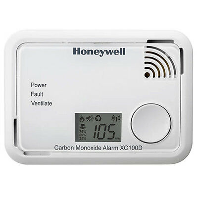 Honeywell XC100D Digital Carbon Monoxide Alarm Detector 10Yr Sealed Unit BNIB